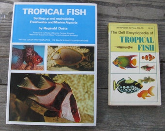 tropical fish hardcover dell encyclopedia of tropical fish softcover vintage fish books