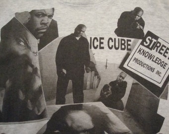 Vintage 90's ICE CUBE N.W.A Rap Hip Hop 1992 Concert Tour Straight Outta Compton double sided T shirt 2XL