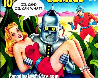 ROBOT MONSTER Girl Art POSTER Cheesecake Science Fiction Pin Up Parody