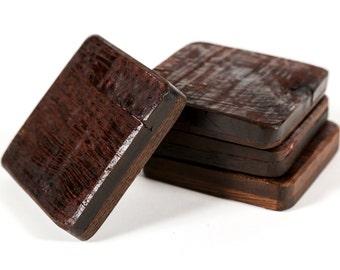 "COASTERS - ""Wine Barrel"" - Napa Valley Wine Barrel Coasters - 100% Recycled"