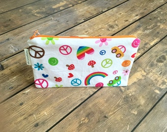 Clearance*** Pencil Case/Cosmetic Bag/ Gadget Case -  Groovy - Ready to Ship