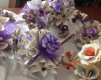 Wedding Suite with Book Page Origami Flowers