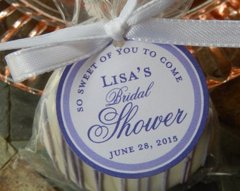"""Bridal or Baby Shower Custom Favor Tags - So Sweet of You to Come - For Cake Pops - Lollipops - Cookies - Thank You Gifts - (24) 1.5"""" Tags"""