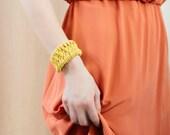 Bohemian Jewelry Boho Jewelry Rope Bracelet Macrame Bracelet Statement Jewelry Woven Bracelet Yellow Bracelet Macrame Jewelry