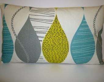 Teal Lumbar Pillow Etsy