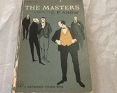1951 Vintage The Masters by C.p. Snow Edward Gorey Cover Art Doubleday Anchor Book A 162