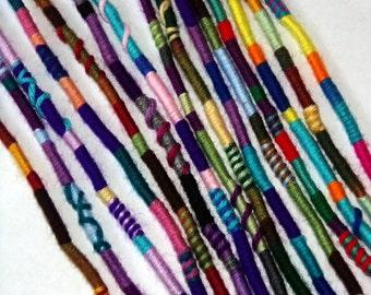 Buy 3, Get 1 Free, Yarn Falls, Braid & Dreadlock Accessories, Atebas, Dread Falls, Hippie Hair Wraps