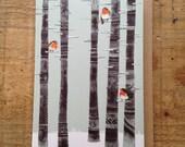Robin Trees // Greeting Card