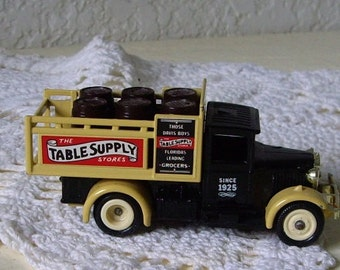 Die Cast Toy Truck, Days Gone by LLEDO Those Davis Boys Table Supply, Florida Leading Grocers  since 1925