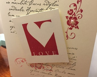 Love, True Friend, Wife, Franz Schubert, Quote, Anniversary, Greeting Card, Handcrafted, Paper Craft, Stamped, Stamping