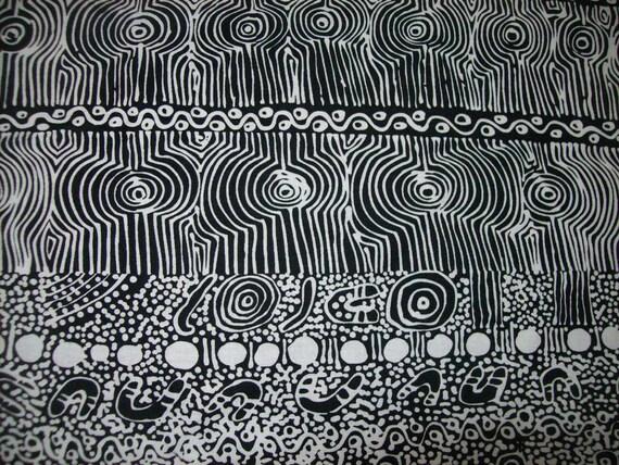 Per Yard Black And White Ethnic Designer Fabric