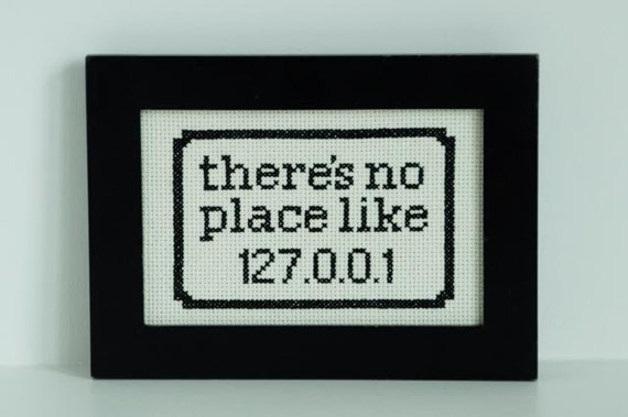 There's no place like 127.0.0.1 geek decor