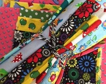 Patchwork appliqué scrap pack, fabric scraps