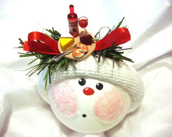 Wine Ornament Cheese Plate Christmas Townsend Custom Gifts
