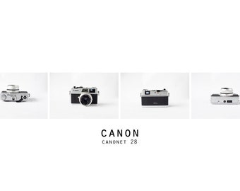 Unique VINTAGE Canon Camera Photo, CANON Canonet 28 Series, Black and White Photo, Vintage Film Camera Photo, Old Camera Photo, Minimalism