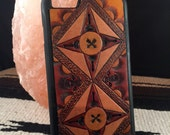 RESERVED Izzy Hand Tooled 'Arrows I' Leather Smart Phone Case Samsung Galaxy S4