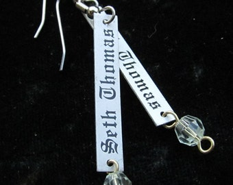 25% off SALE see welcome page for details Steampunk Seth Thomas Charm Earrings  E 64