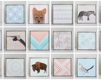 southwestern nursery art -choose 18 designs- animal prints- gender neutral baby- southwest childrens wall decor- nursery- redtilestudio
