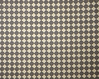 SPECIAL--Brown and Yellow Foulard Print Stretch Cotton Sateen Fabric--One Yard