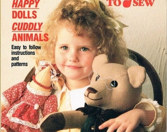 Soft Toys to Sew - Better Living Collection (1990)