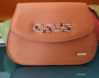 Giorgio Fabiani Rust Silk Evening Bag