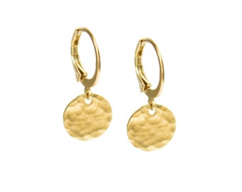 "ELEMENTS II - Gold plated earrings ""Full Moon"" (ELBO02)"