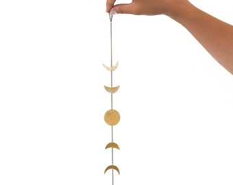 ELEMENTS II - Moon phase suspension (ELD01) wall art / wall jewellery