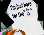 Cheerleader Raglan Shirt - Long Sleeve Raglan - I'm Only Here For The Cheerleaders Raglan Shirt - Cheerleading shirt - Boys Clothing