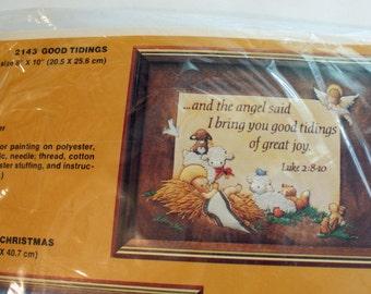 Nativity Embroidery Stitch Kit Good Tidings Sealed Item 2143 The Creative Circle Baby Jesus