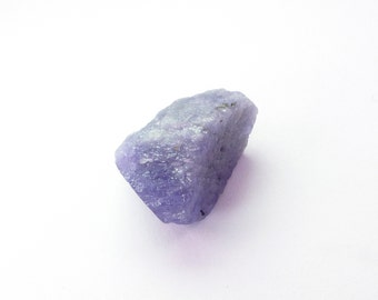 TANZANITE. Natural Rough Tanzanite. Blocky Nuggets. Super Color. Large Size. 1 pc. 20.67 cts. 13x17x14 mm (TZ152)