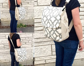 CUSTOMIZABLE Diaper Bag Backpack - Rounded Bottom - Lots of Pockets