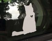 Kitty Love car decal, longhair cat, medium hair cat, cat, cat decal