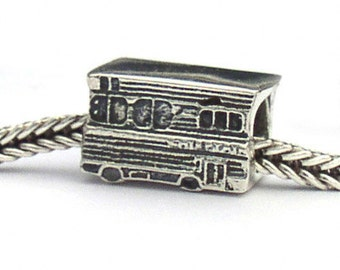 Sterling Silver Charm Bead Motor Home Landmark Bead LM047