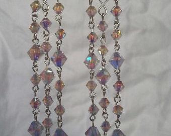 Shimmer Earrings Sand Opal Sterling