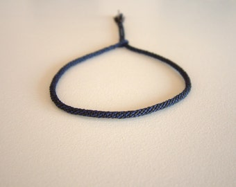 INDIGo - Woven Surfer Style Cord - String - Bracelet - Durable / Hand Knotted by fig&fig