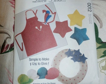 Cute 1993 McCall's Quick Picks Pattern 0012, 10 Great Gifts to Make, Uncut, Factory Folds
