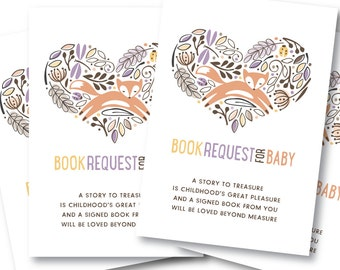 Book Request Insert Card, Bring-A-Book Baby Shower // WOODLAND WONDER