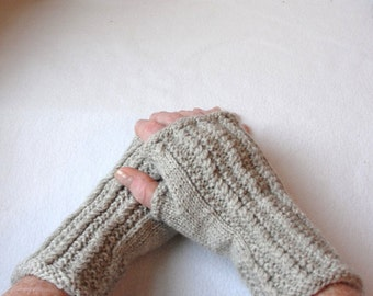 KNITTING PATTERN Irish Fingerless Mittens for Adults and Teens, Cable knit fingerless mitts