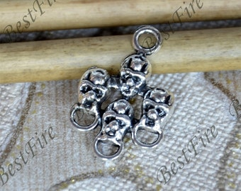 10 pcs of Antique Silver charming skull pendant,human skeleton metal finding 13x26mm,skull findings beads,skeleton pendant beads findings