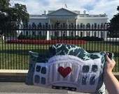 Huggable White House Pillow One-of-a-Kind Custom