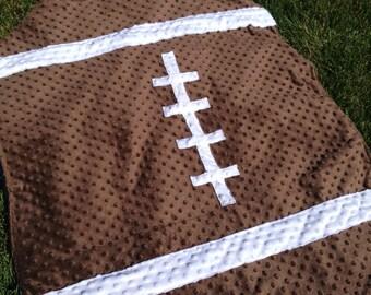 Football Minky Blanket