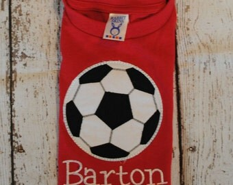 Soccer Ball Embroidered Personalized Shirt or Bodysuit
