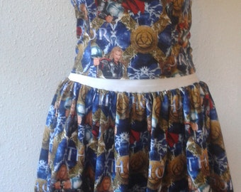 Custom made to order Thor Dress 2 piece bodice and skirt