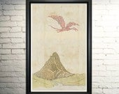Smaug and the Lonely Mountain Typography Art, The Hobbit Art, The Hobbit Poster