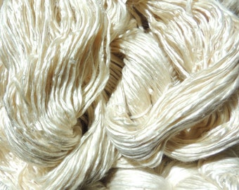 Embelished Silk Yarn - White