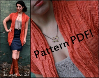 Crimped Cardigan: PDF Knitting Pattern by The Sexy Knitter