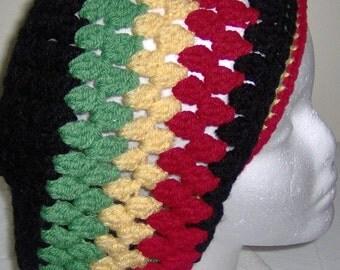 Crochet Rasta dread Tam, Rasta hat, Slouchy Rasta hat, dreadlocks hat, Reggae hat, Crochet Beanie, slouchy tam.