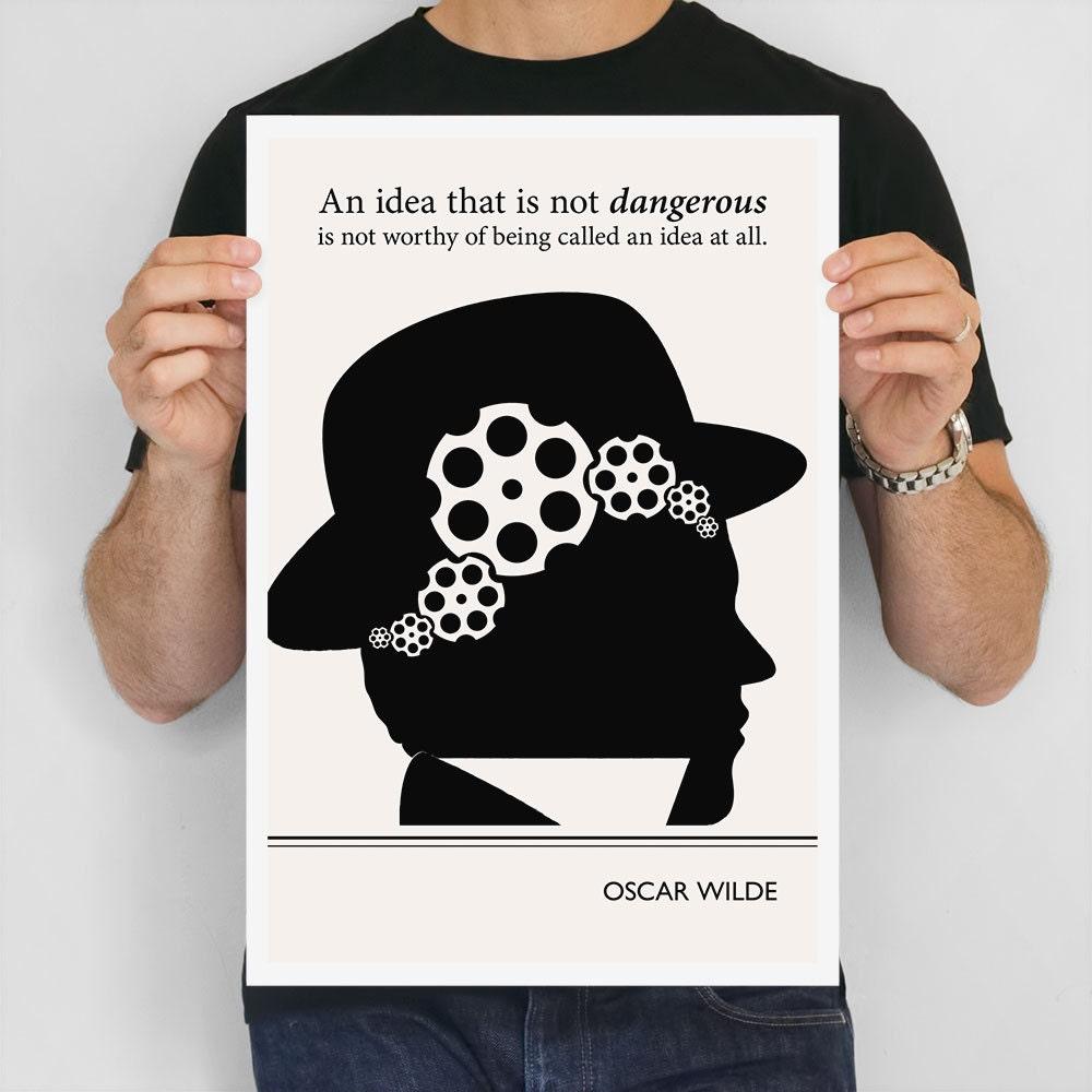 Modern Art Prints Oscar Wilde Quote Minimalist Poster Large