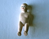 Tiny Porcelain Doll with No Arms for Altered Art Doll Making