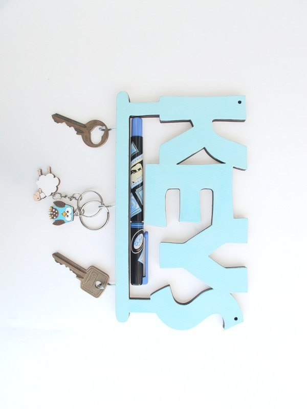 Key Hook Aqua And White Wall Key Holder Decorative Key Hook